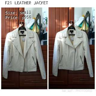 REPRICED! F21 LEATHER JACKET