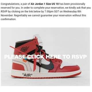 OFF-WHITE x Air Jordan 1 Retro High OG