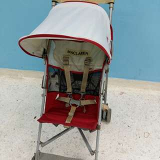 Maclaren Volo Lightweight Baby Stroller in Red