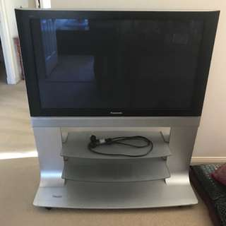 Large panasonic tv with stand