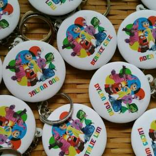 $2/pc Inside Out Customised Button Badge Keychain