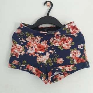 Forever 21 Floral Highwaist Shorts