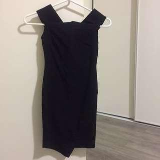 Black Dress & Off Shoulders
