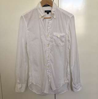 Gant White Button Up Shirt Sz S