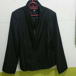 FENDI BLACK BLAZER COAT (XL)
