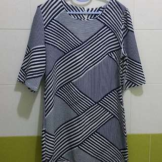 Chevron Dress (Free Size)