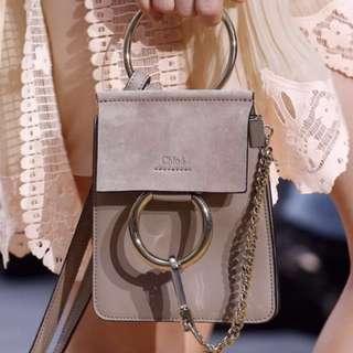 清👜系列💐Chloe mini faye bag (grey)