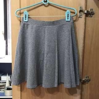 灰色棉質百搭裙S