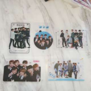 BTS ~ TRANPERENT CARD ~ READY STOCK