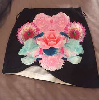 Floral clubbing skirt