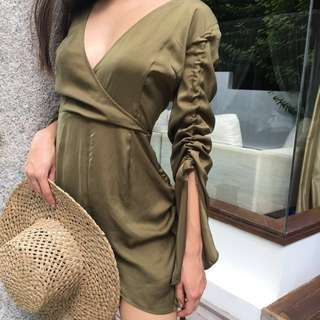 FINDERS KEEPERS Playsuit Direction Juniper Green RRP $149.95 Size S