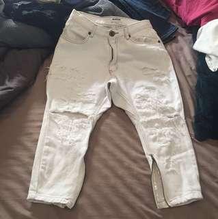 One teaspoon white jeans