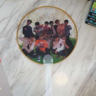 WANNA ONE ~ TRANPERENT HAND FAN ~ READY STOCK