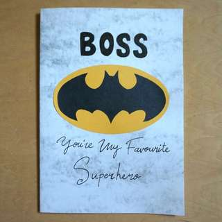 Birthday / Thank You Card For Boss