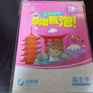 日本旅行4G七天無限上網卡