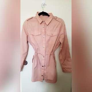 Peach Thin Jacket - Size 8