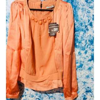 Long sleeves Orange Formal Top