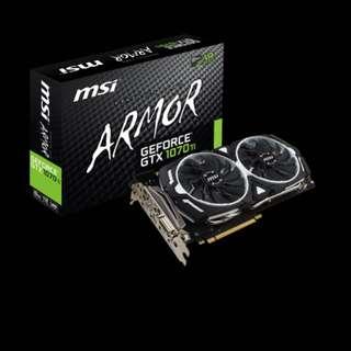 MSI Geforce GTX 1070ti Armor GDDR5 8GB