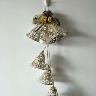 聖誕樹飾品 吊飾 雙網金鐘