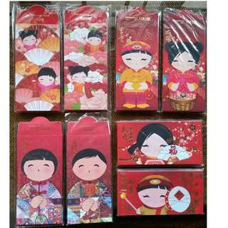 Red Envelopes or Hong Bao for Auspicious Occasions (also known as Red Packet , Ang Bao Pao Pow Pau )