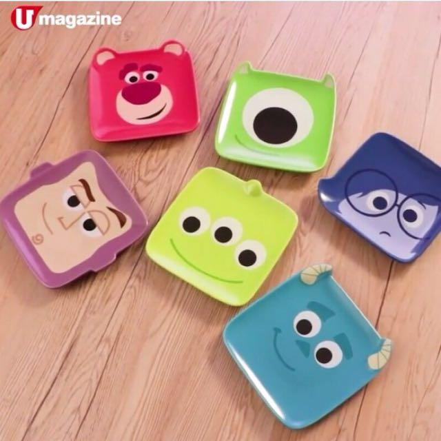 11月中到貨 香港7-11  Pixar 皮克斯 陶瓷碟 玩具總動員 三眼怪 熊抱哥 巴斯光年 大眼仔 毛怪 憂憂