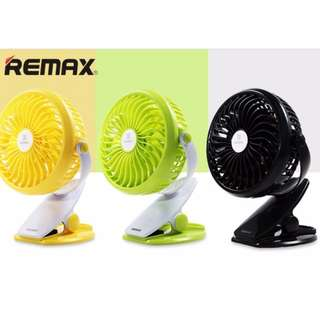 REMAX F2 CLIP ON RECHARGEABLE 360-DEGREE ROTATION 4 BLADES USB DESK FAN