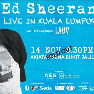 Ed Sheeran Concert (U Mobile Zone) x1