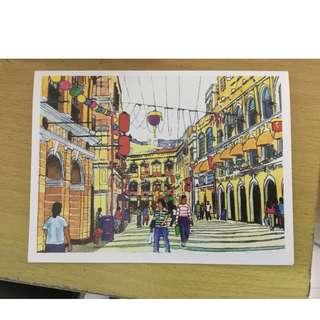 Claude Tayag Box of 1 dozen postcards Macau paintings