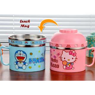 LUNCH MUG MOTIF CARTOON - BAHAN STAINLESS TAHAN PANAS/DINGIN