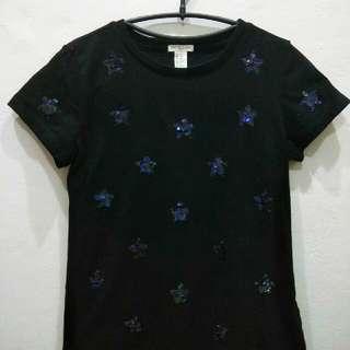 Forever 21 / F21 basic star sequined tshirt