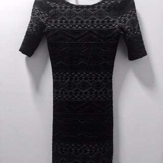 H&M BARE BACK BODYCON DRESS