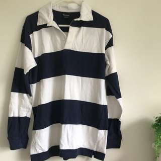 Navy & White Rugby Jumper
