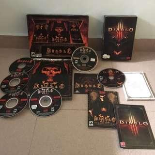 Diablo 1 2 and 3 Full Battle Chest Set