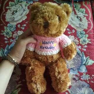 Singapore Shasha Teddy Bear Happy Birthday