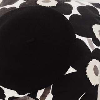 VII&CO 毛料挺版貝蕾帽 全新 黑色