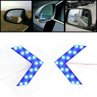 14 LED Car Side Mirror Indicator Arrow Signal Light 2 pieces set