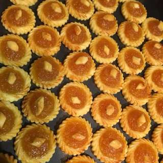 Pineapple Tarts made with hand grated pineapples