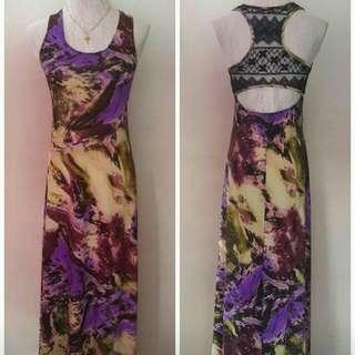 Maxi purple dress