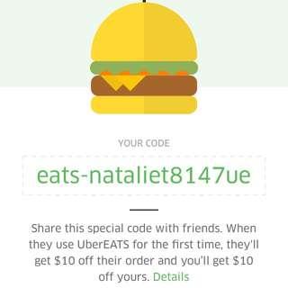 UberEATS code
