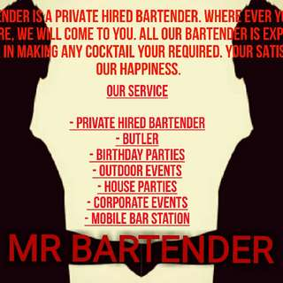 (alcohol) Private Hired Bartender