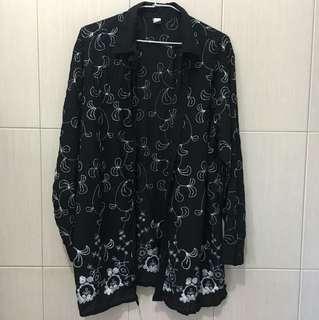 Kimono日系刺繡罩衫