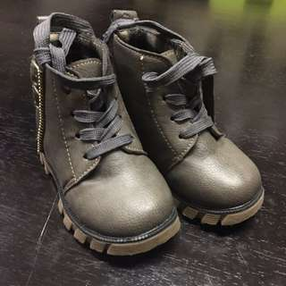 Baby Boots, Kids Leather Boots Like Timberland, Preloved