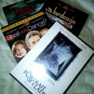 4 US DVDs - Shall We Dance, Portrait of a Lady, Perfect Storm & Birdcage