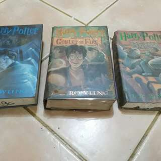 Harry Potter book 3, 4 & 5 only