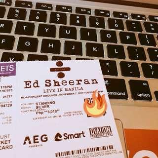 silver tix for ed sheeran