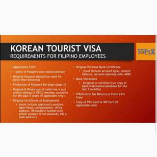 Visa Processing and Assistance - South Korea