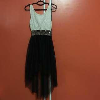 Monochrome High Low Dress