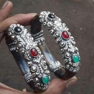 Bahar Sutera Emas With Silver Handmade