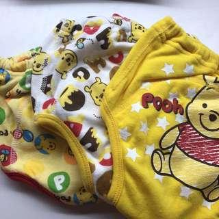 迪士尼 小熊維尼 二層紗學習褲 90-95