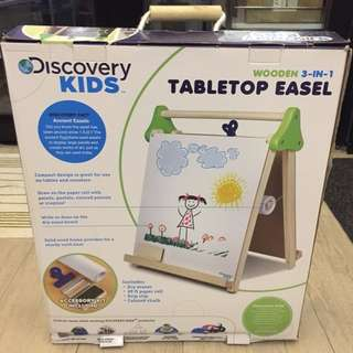 Discovery Kids Wooden 3-in-1 Table Top Easel 兒童雙面畫板